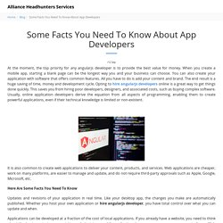 Some Facts You Need To Know About App Developers - Alliance Headhunters Services