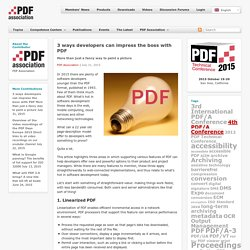 3 ways developers can impress the boss with PDF