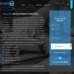 ✓ Magento Developers Melbourne, Ecommerce Web Design - Elsner