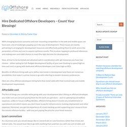 Hire Dedicated Offshore Developers – Count Your Blessings!
