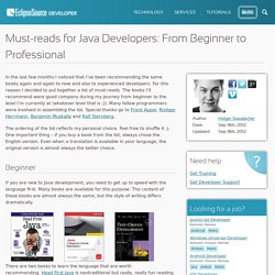 Must-reads for Java Developers: From Beginner to Professional