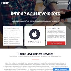 Hire iPhone Developers & Programmers