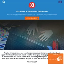 AngularJs Developers & Programmers India