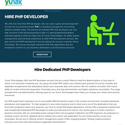Hire PHP Developer - Full Time Dedicated PHP Developers Programmers