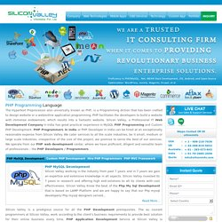 PHP Developers India ,PHP Programmers India, PHP Web Developer India