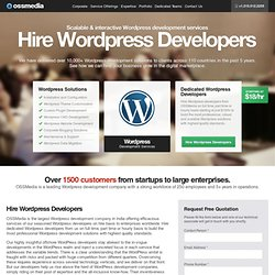 Hire WordPress Developers & Programmers | Wordpress Theme Developers | Offshore WordPress Developers India