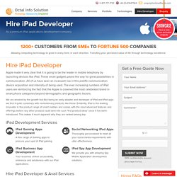 Hire iPad Developer, Hire iPad App Developers, iPad Programmers
