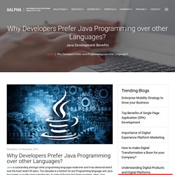 Why Developers Prefer Java Programming over other Languages?