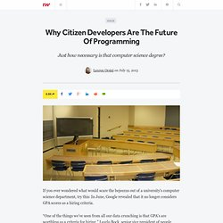 Why Citizen Developers Are The Future Of Programming