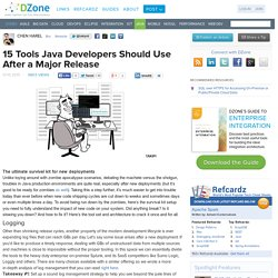 15 Tools Java Developers Should Use After a Major Release