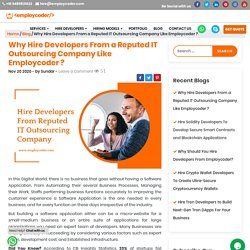 Why Hire Developers From a Reputed IT Outsourcing Company?
