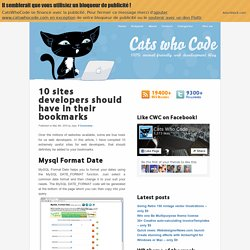 10 sites developers should have in their bookmarks