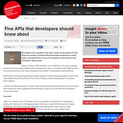 Five APIs that developers should know about