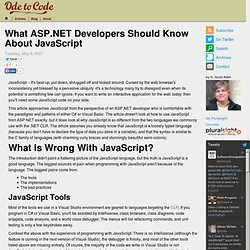 What ASP.NET Developers Should Know About JavaScript