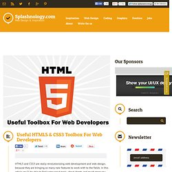 Useful HTML5 & CSS3 Toolbox For Web Developers / HTML 5 / Splashnology - Web Design and Web Technology Community