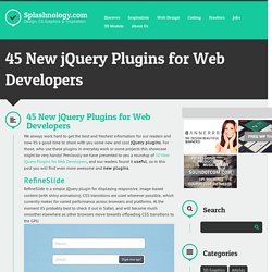 45 New jQuery Plugins for Web Developers
