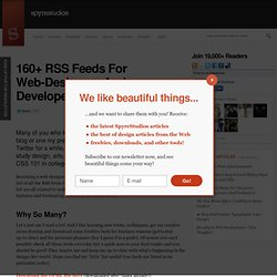 160+ RSS Feeds For Web-Designers And Developers