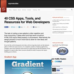 40 CSS Apps, Tools, and Resources for Web Developers