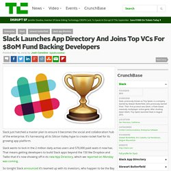 Slack Launches App Directory