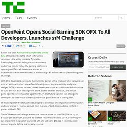 OpenFeint Opens Social Gaming SDK OFX To All Developers, Launches $1M Challenge