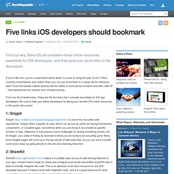 Five links iOS developers should bookmark