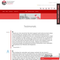 Ecommerce Developers Bangalore Testimonials