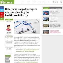 How Mobile App Developers are Transforming Healthcare