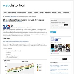 26 useful graphing solutions for web developers - Webdistortion