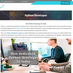 Hire Python Developers India-Python With Django 2020