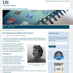 Developing accessible web content - Technology Enhanced Learning