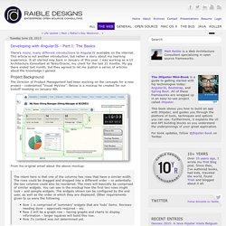 Developing with AngularJS - Part I: The Basics