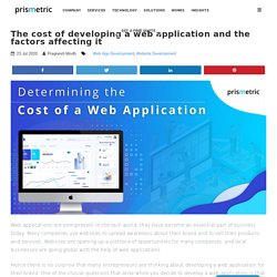 The cost of developing a web application and the factors affecting it