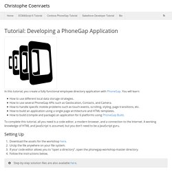 Tutorial: Developing a PhoneGap Application