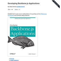 Developing Backbone.js Applications -