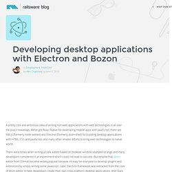 Developing desktop applications with Electron and Bozon