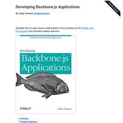 Developing Backbone.js Applications -