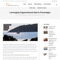Leveraging Organisational data in PowerApps
