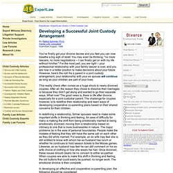 Developing a Successful Joint Child Custody Arrangement