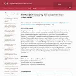 DBIR ⇢ Talks and Papers ⇢ NSTA 2015 PDI Developing Next Generation Science Assessments