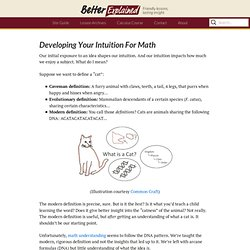 Developing Your Intuition For Math