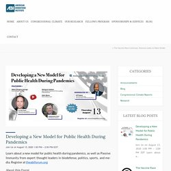 Developing a New Model for Public Health During Pandemics - American BioDefense Institute's