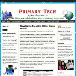 Developing Blogging Skills: Simple Rubric