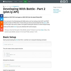 Developing with Bottle - part 2 (plot.ly API)