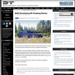 BAE Developing IR Cloaking Device