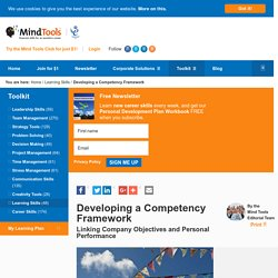 Developing a Competency Framework - Learning Skills from MindTools.com