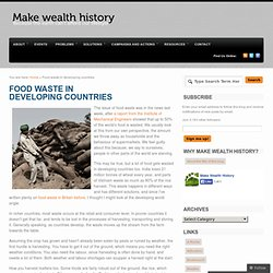 Food waste in developing countries