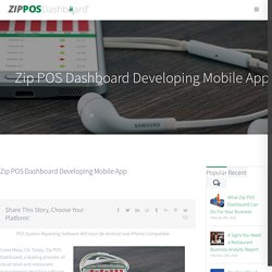 Developing the Zip POS Dashboard Mobile App