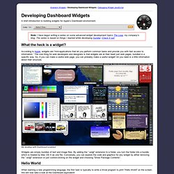 Developing Dashboard Widgets
