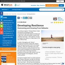 Developing Resilience - Career Development from MindTools.com
