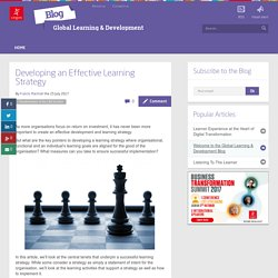 Developing an Effective Learning Strategy - Blog Global Learning & Development